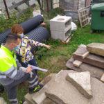 Els Mossos d'Esquadra troben els blocs de pedra de la resclosa del Molí dels Sorts que van ser robats